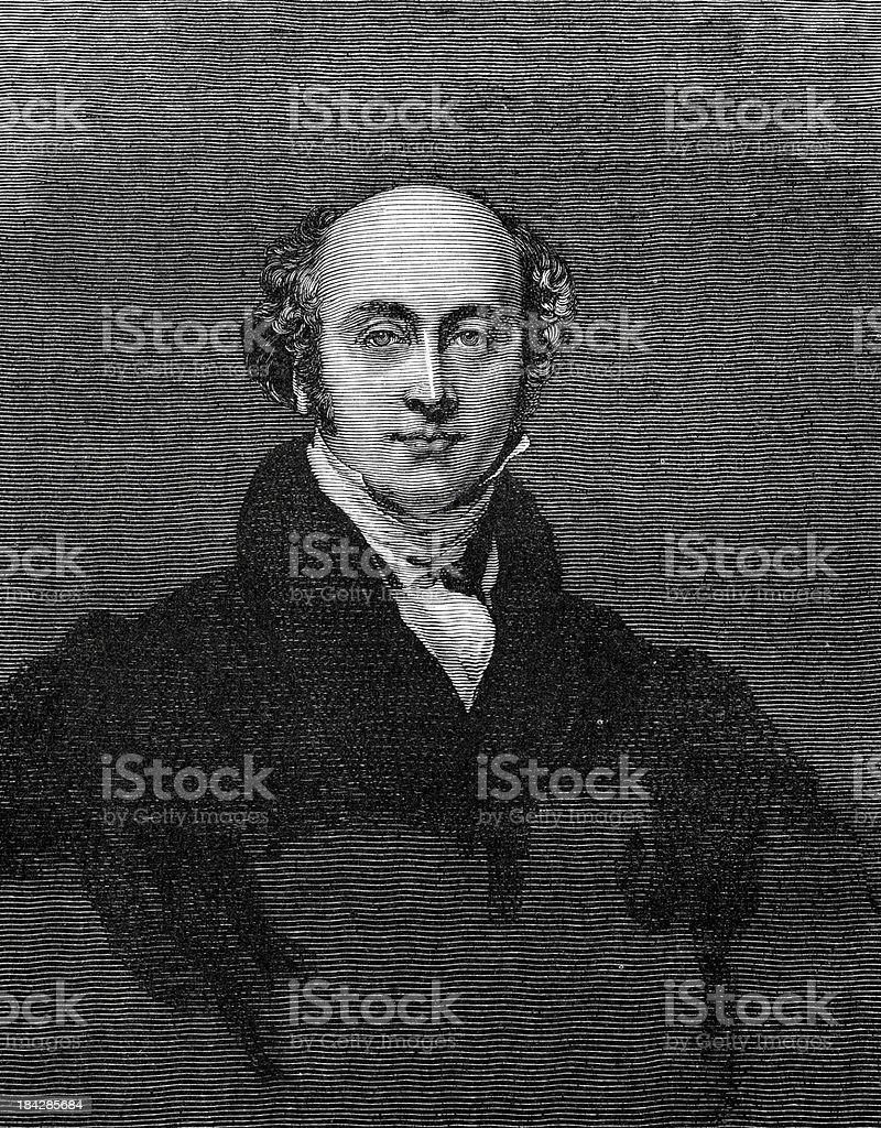 Sir Thomas Lawrence vector art illustration