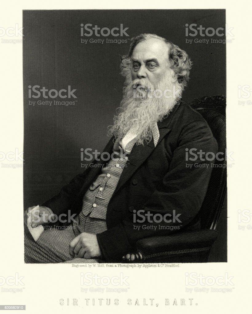 Sir Titus Salt, 1st Baronet vector art illustration
