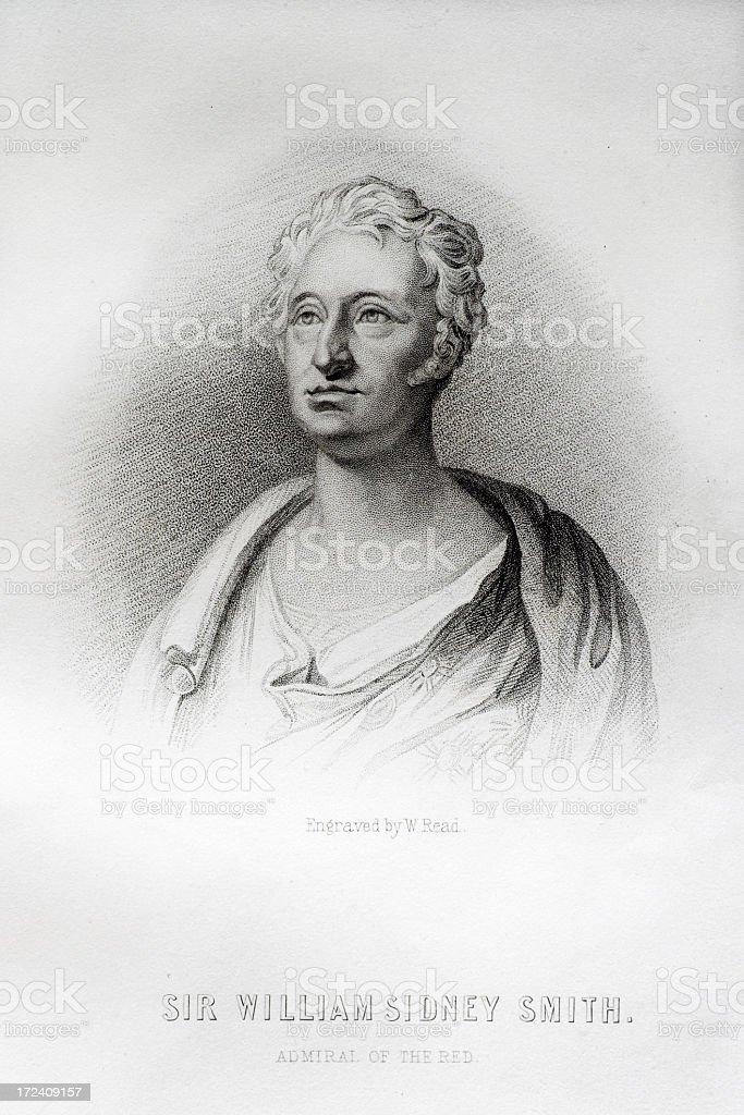 Sir William Sidney Smith vector art illustration