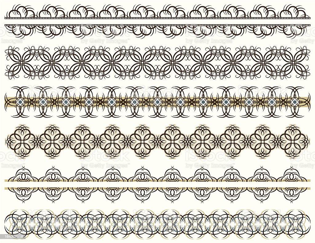 six decorative lines royalty-free stock vector art