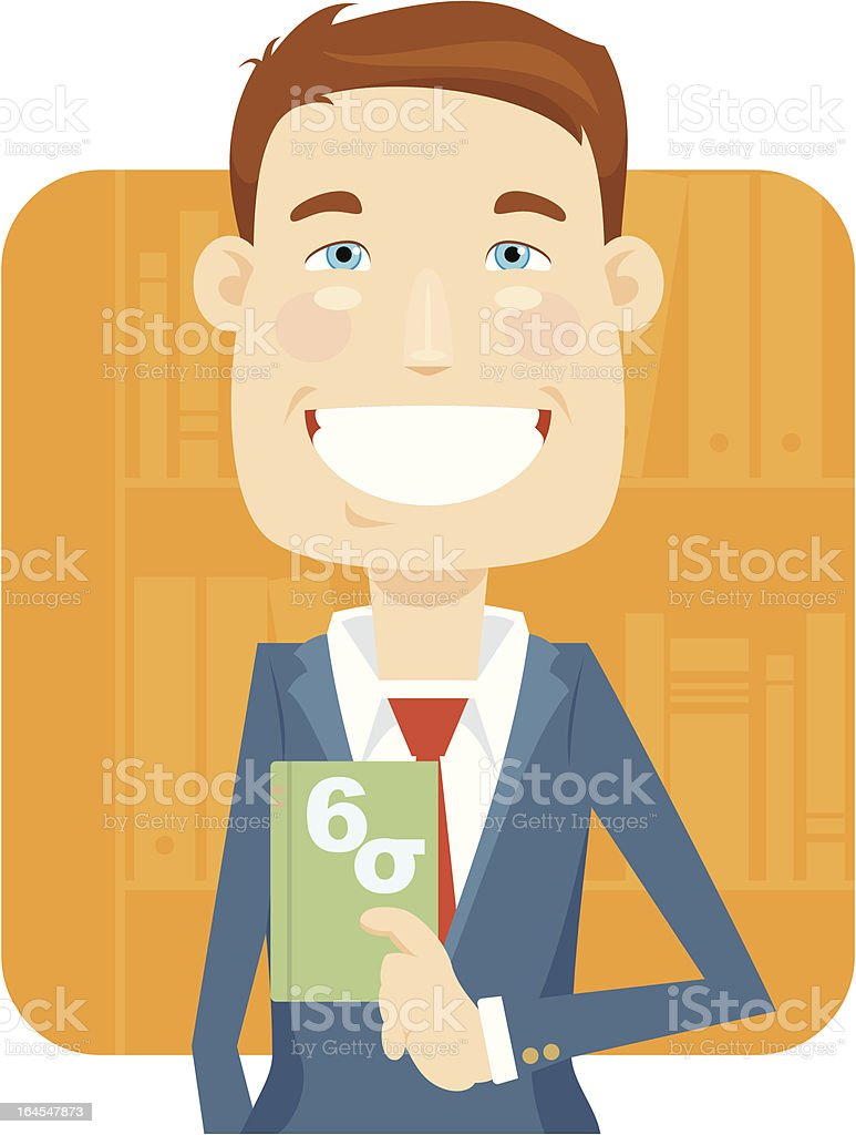 Six Sigma Certified (Male) royalty-free stock vector art