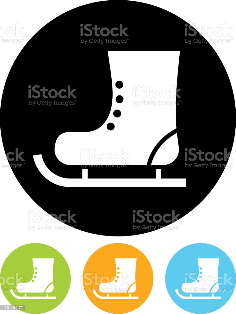 Skate boot vector icon isolated royalty-free stock vector art