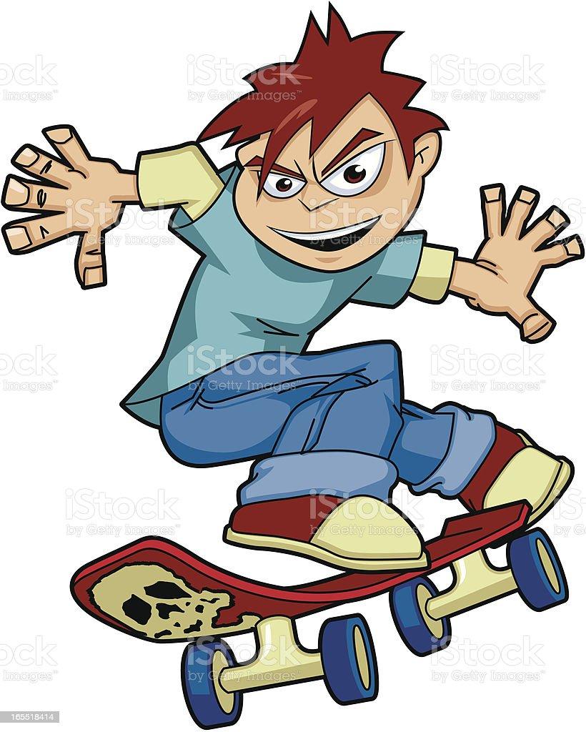 Skateboarder Kid royalty-free stock vector art