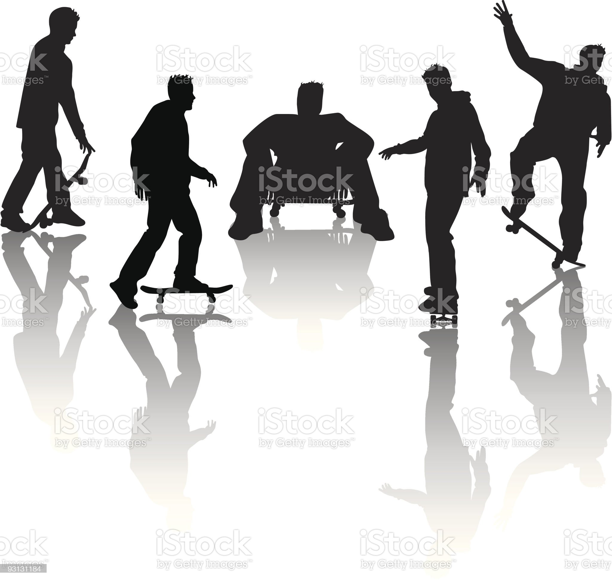 Skater Boy royalty-free stock vector art