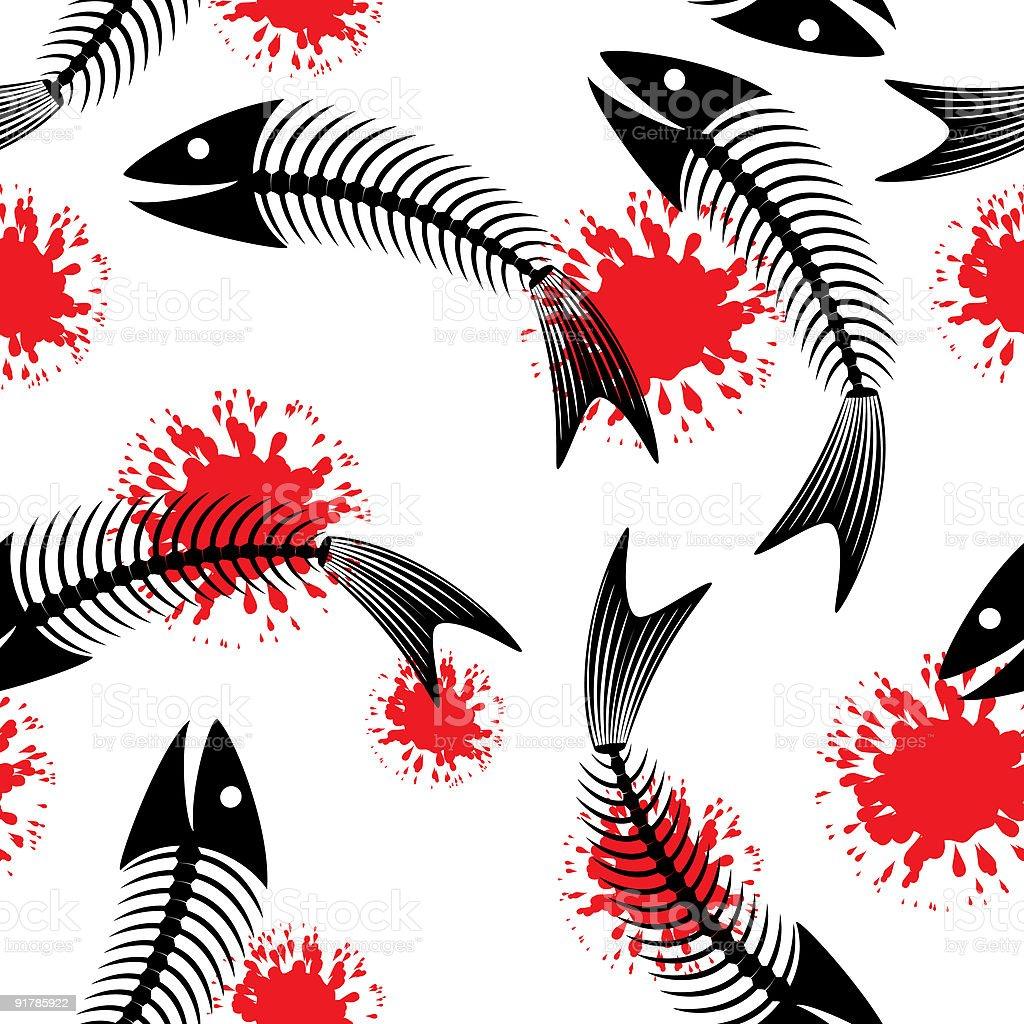 Skeleton of fish. Fun. royalty-free stock vector art