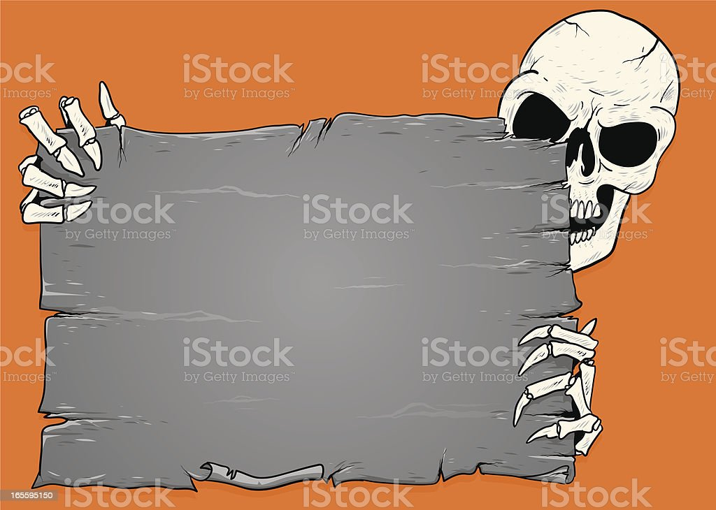 skeleton sign royalty-free stock vector art