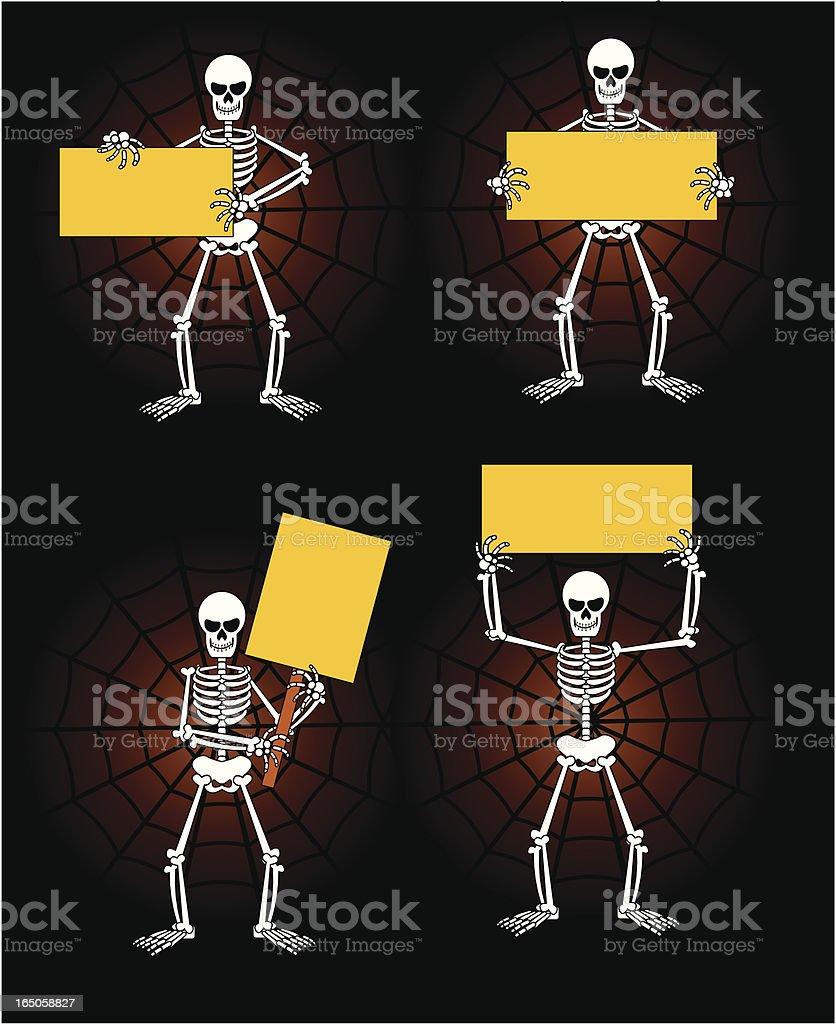 skeleton signs royalty-free stock vector art