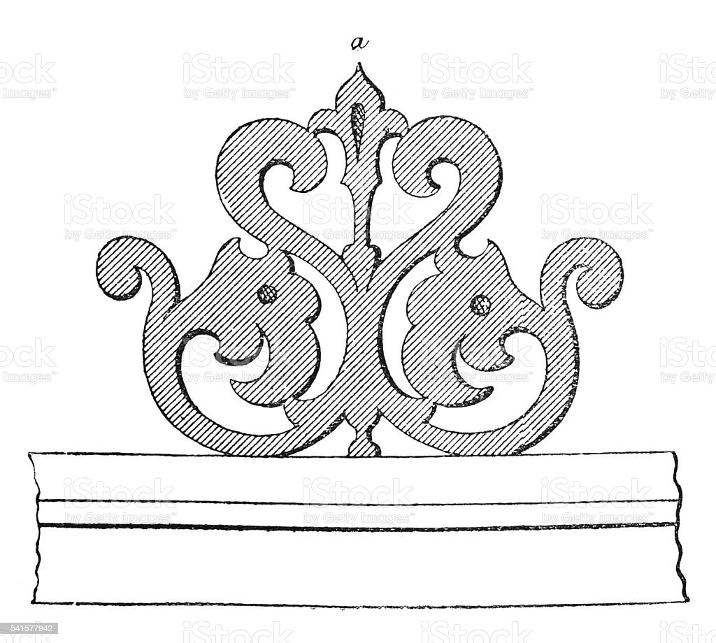 Sketch for terminal architectural ornaments vector art illustration