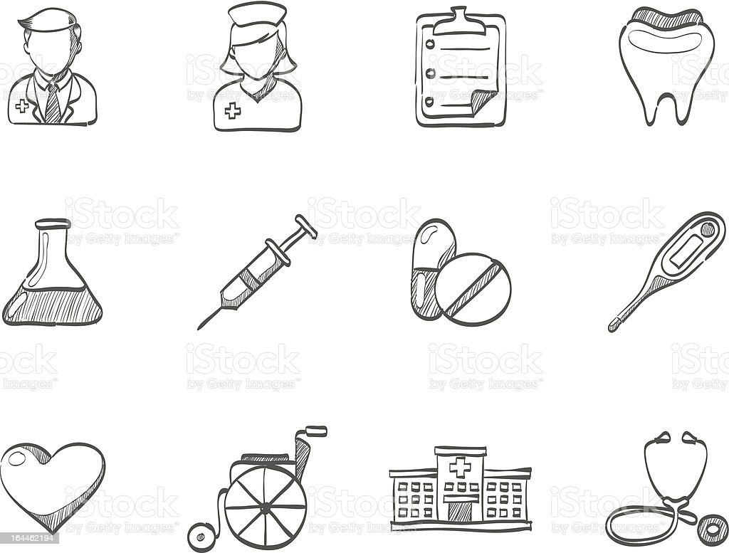 Sketch Icons - Medical royalty-free stock vector art