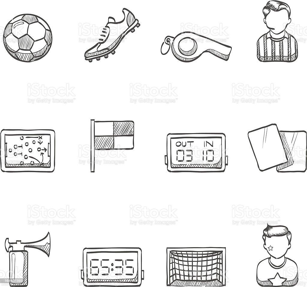 Sketch Icons - Soccer vector art illustration