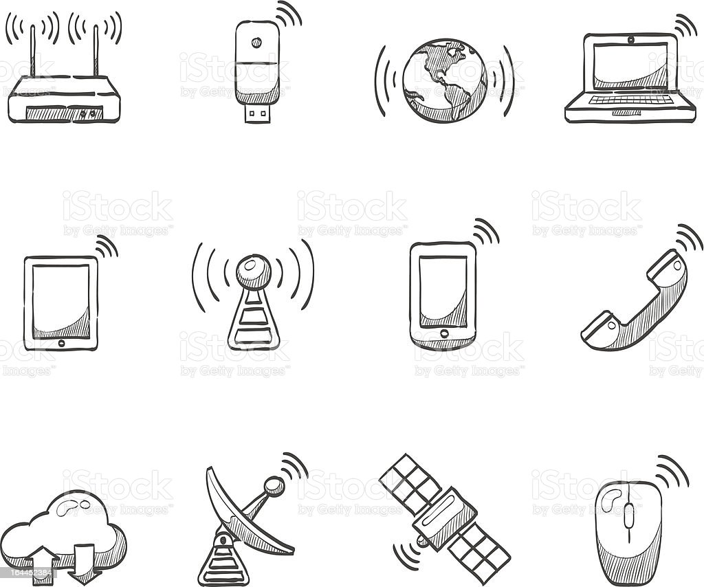 Sketch Icons - Wireless royalty-free stock vector art