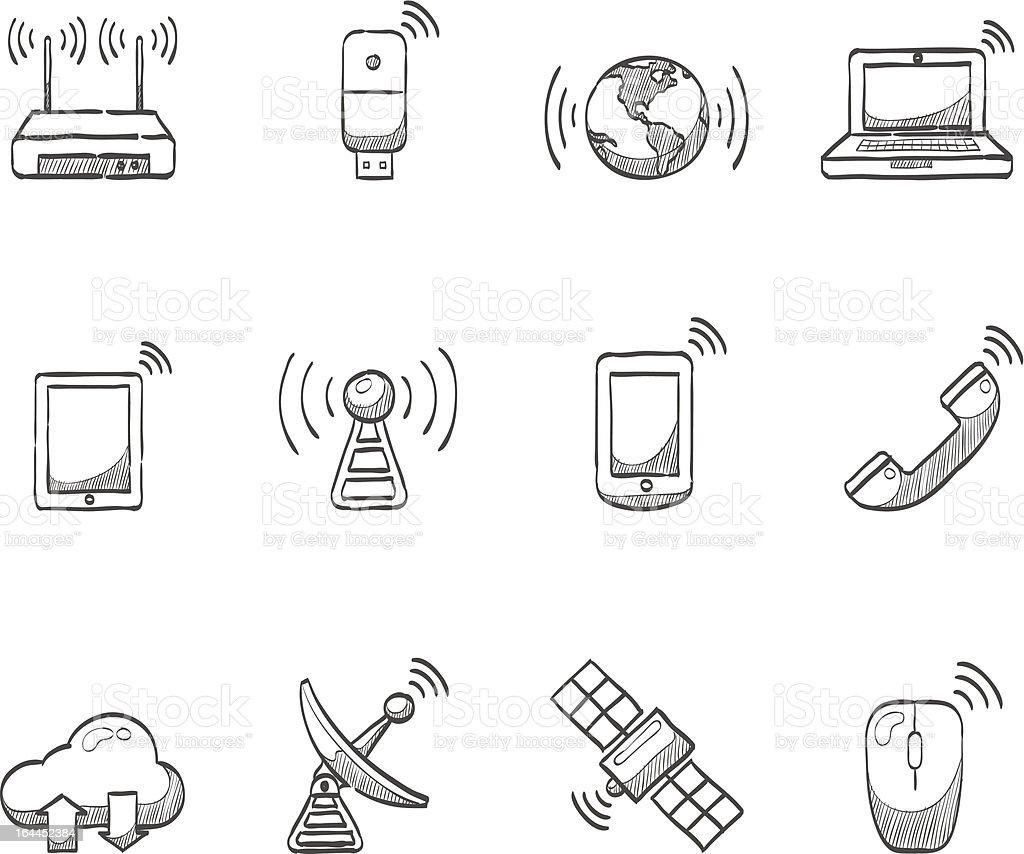 Sketch Icons - Wireless vector art illustration