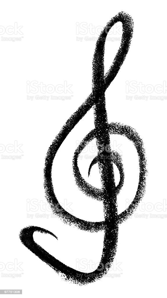clef sketch royalty-free stock vector art