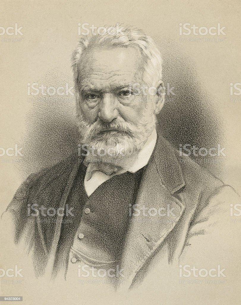 Sketch of the famous Victor Hugo vector art illustration