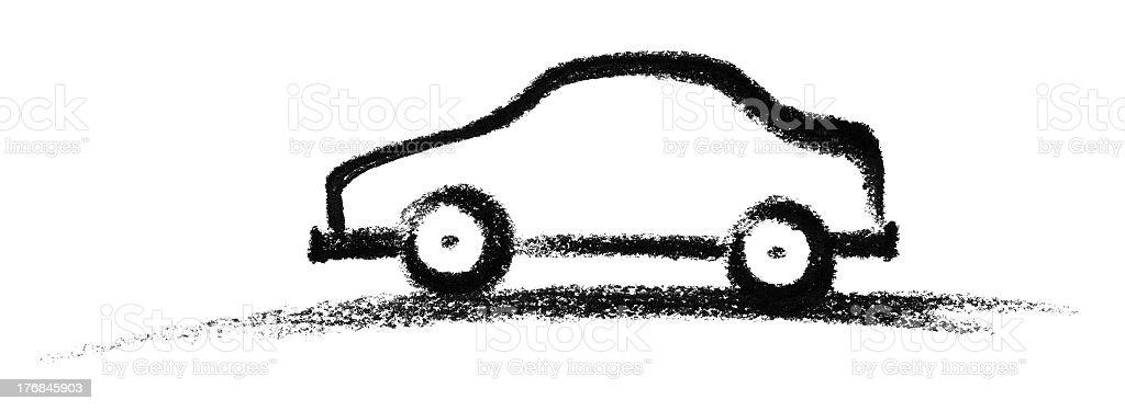 sketched car royalty-free stock vector art