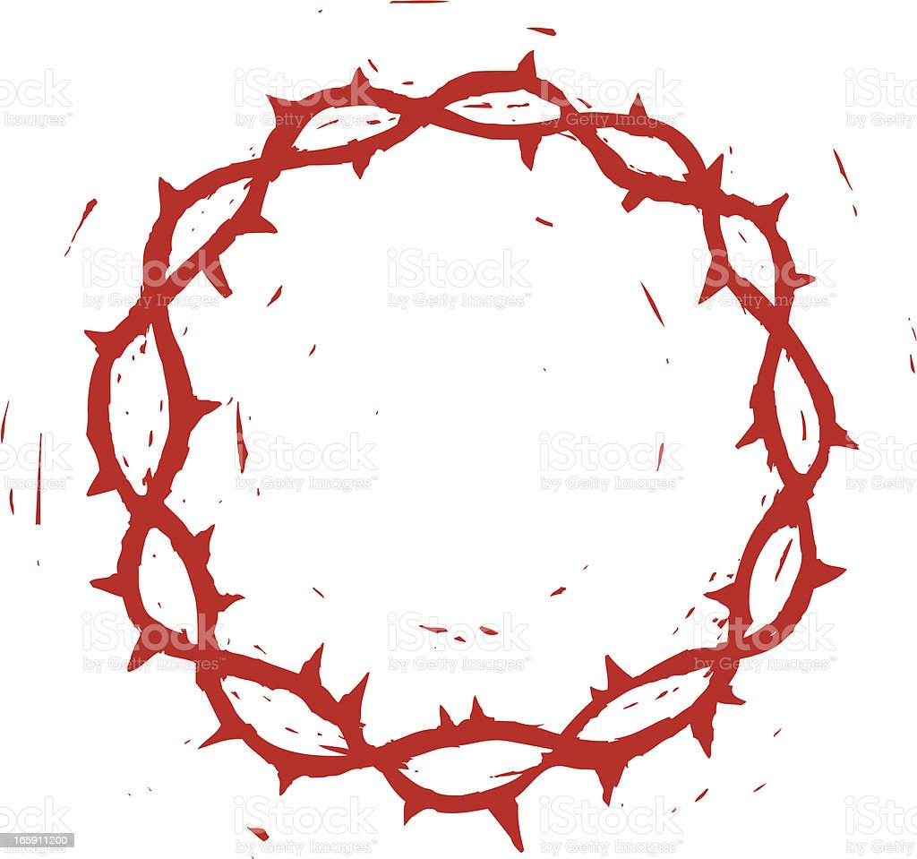 sketchy crown of thorns royalty-free stock vector art