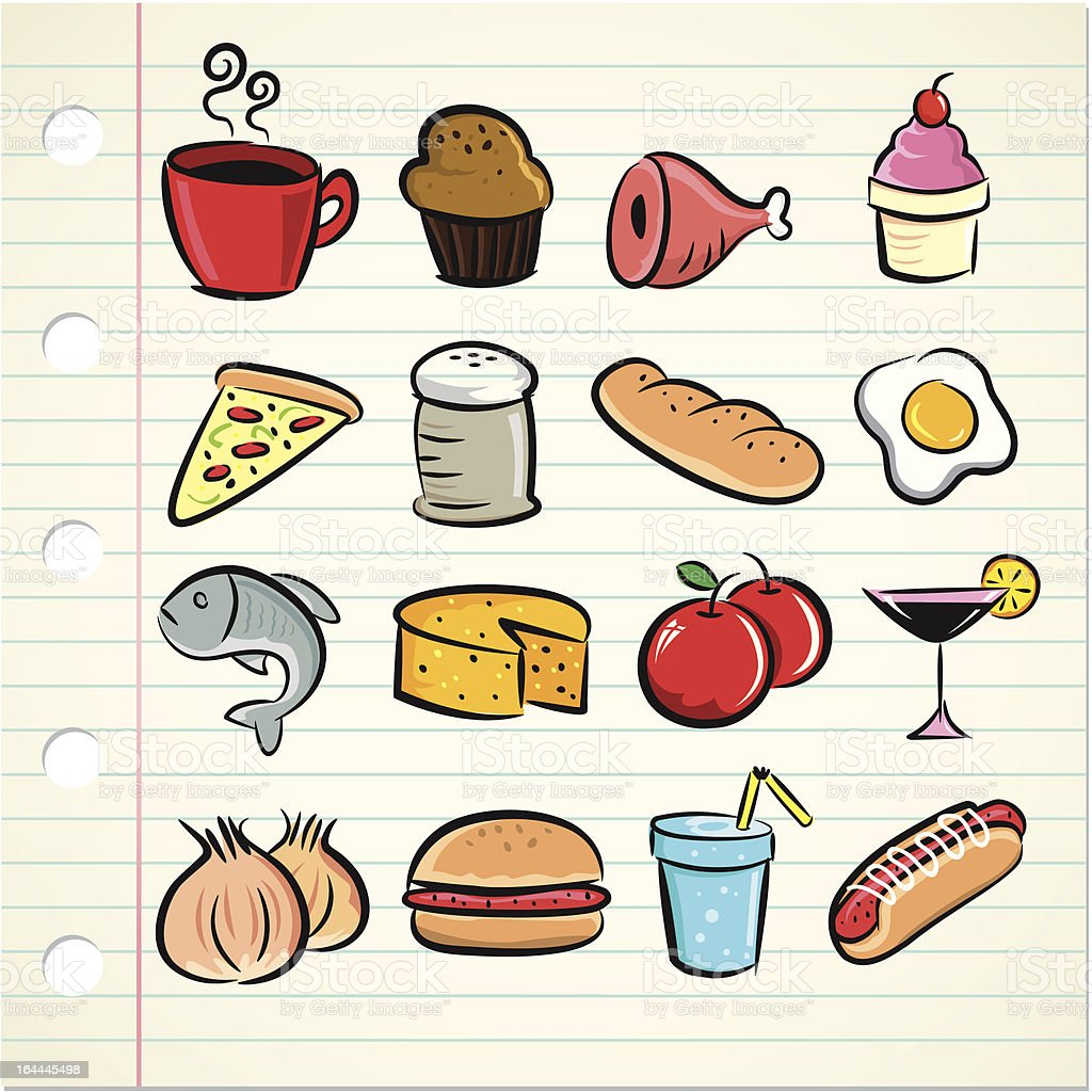 sketchy food icon royalty-free stock vector art