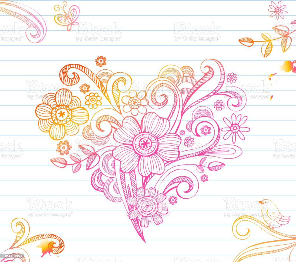 Sketchy Heart royalty-free stock vector art