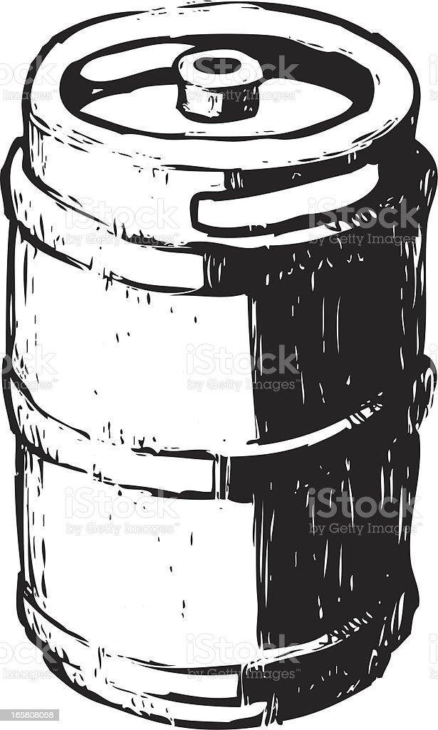 sketchy keg vector art illustration