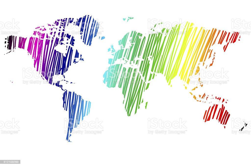 Free illustration: Rainbow World Map, Symbol Lgbt - Free Image on ...