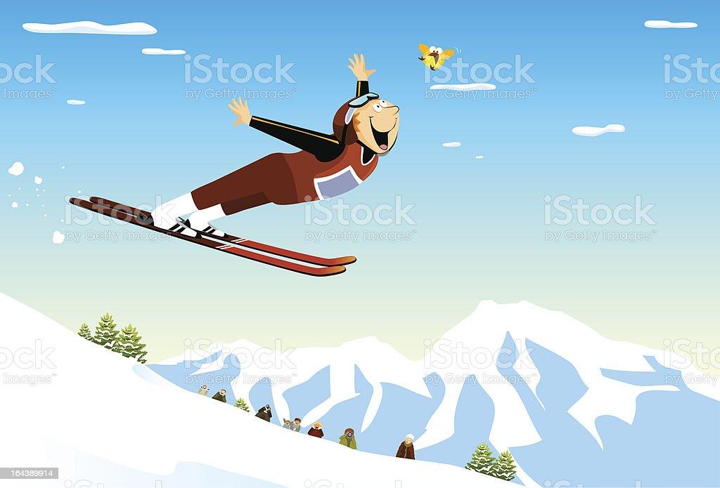 Ski Jumping royalty-free stock vector art
