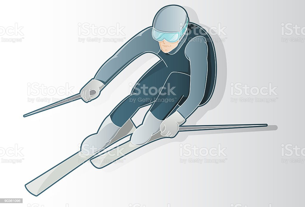 Ski man royalty-free stock vector art