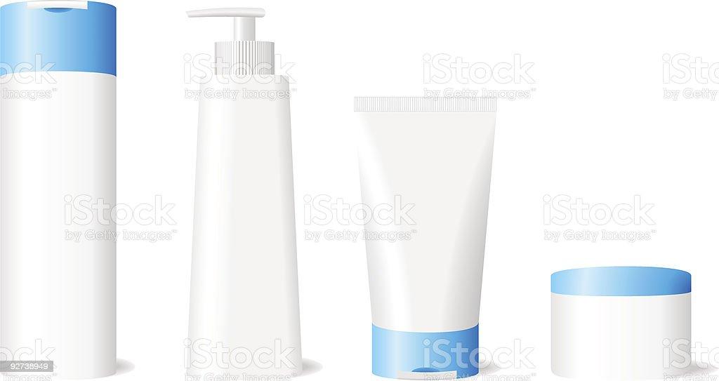 Skin care set royalty-free stock vector art