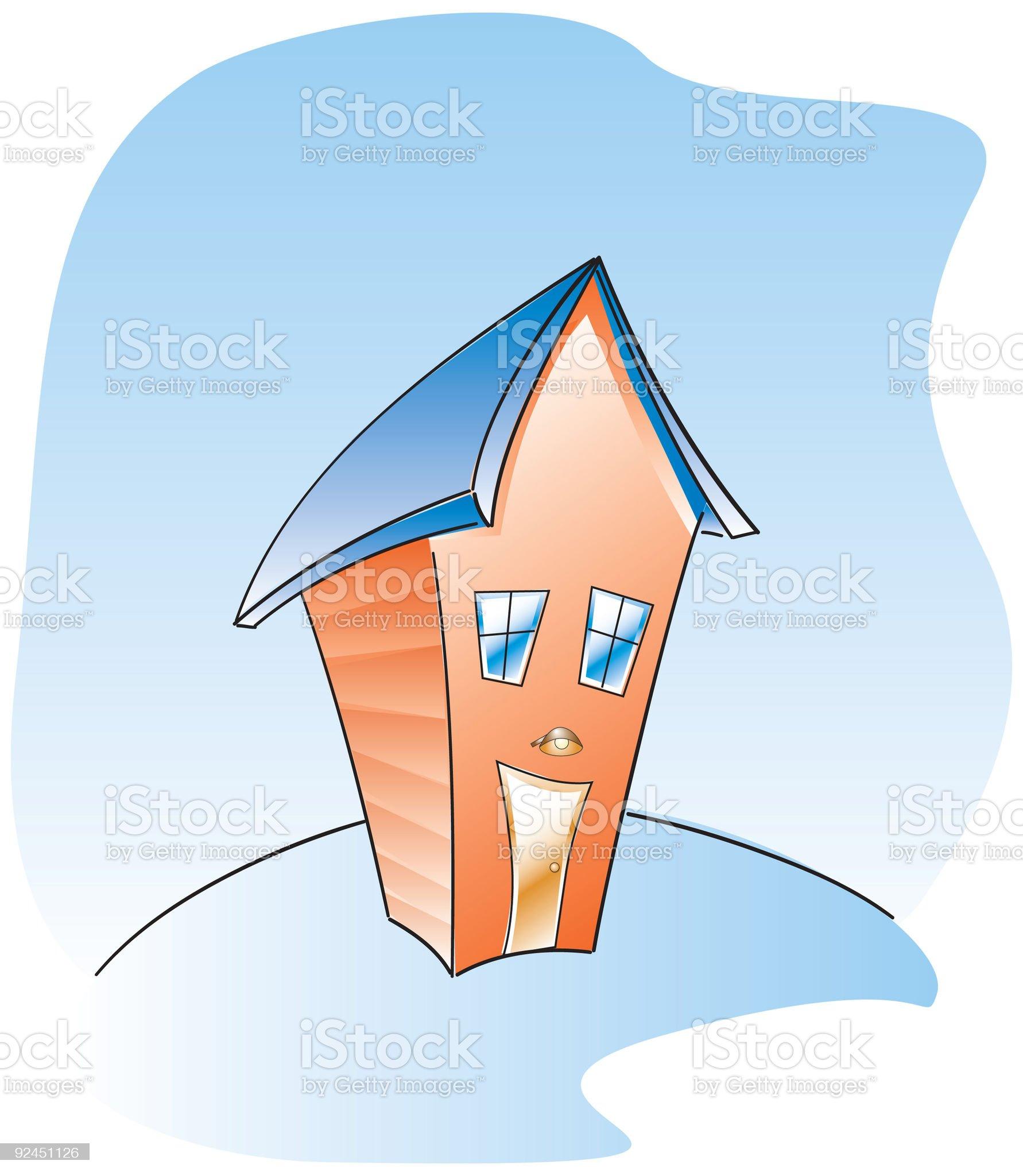 skinny house royalty-free stock vector art