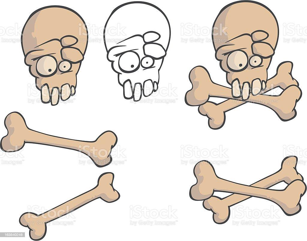skull 3 royalty-free stock vector art