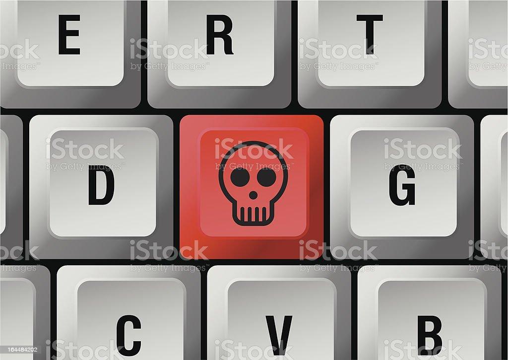 skull button royalty-free stock vector art