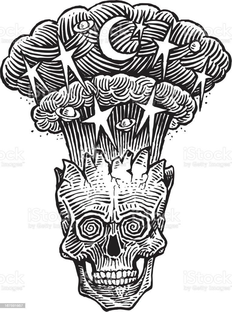 Skull Explosion royalty-free stock vector art