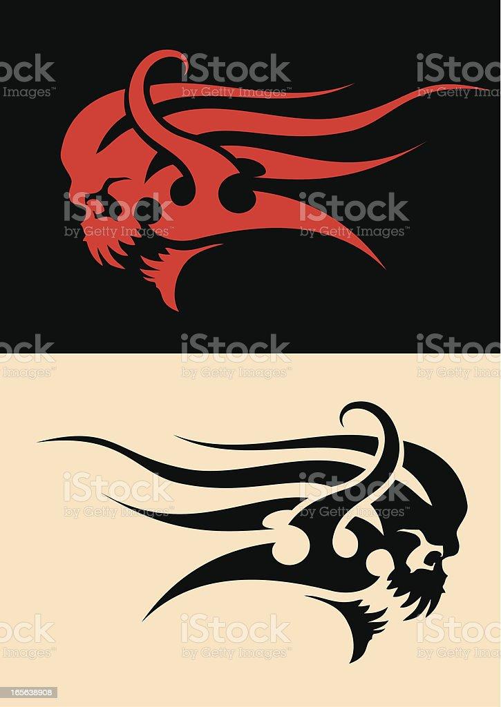 skull ornament royalty-free stock vector art