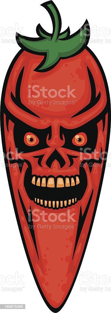 skull pepper vector art illustration