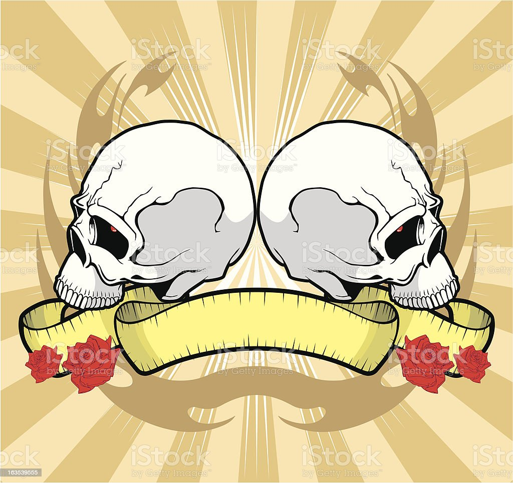 Skull Tattoo Design royalty-free stock vector art