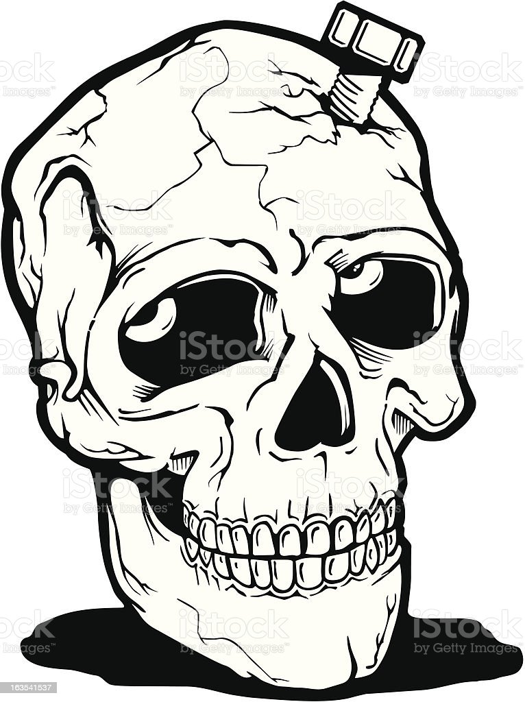 Skull1 royalty-free stock vector art