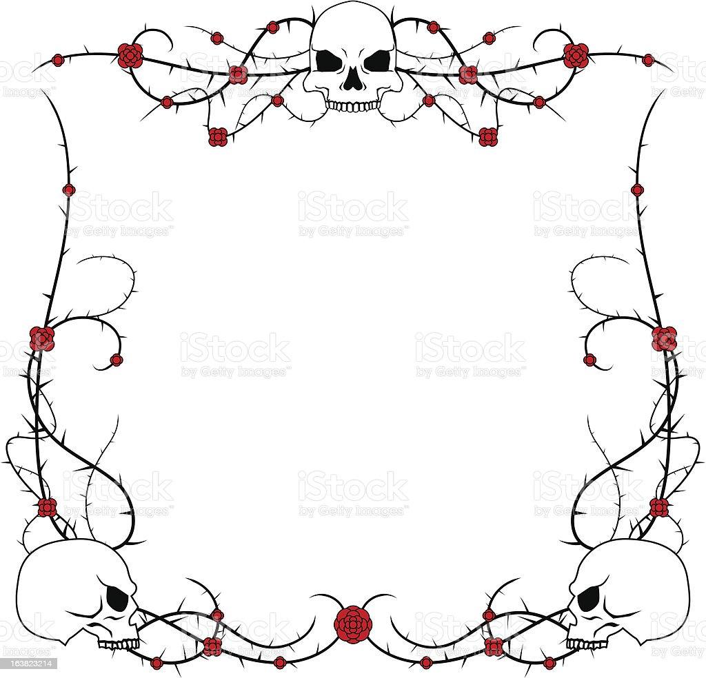 Skulls and roses royalty-free stock vector art