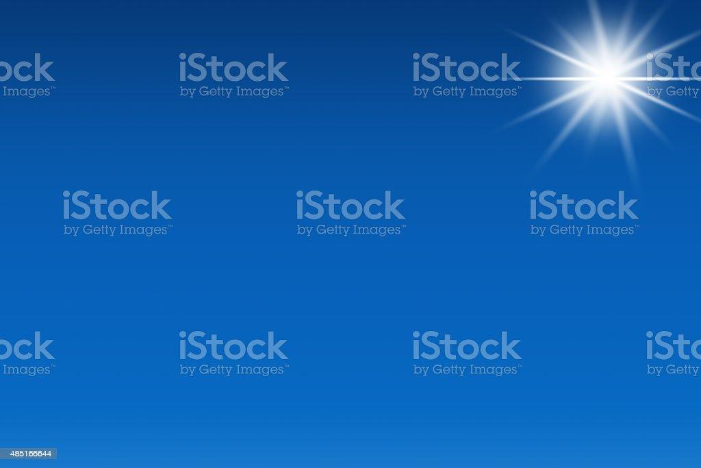 Sky And Sunlight vector art illustration
