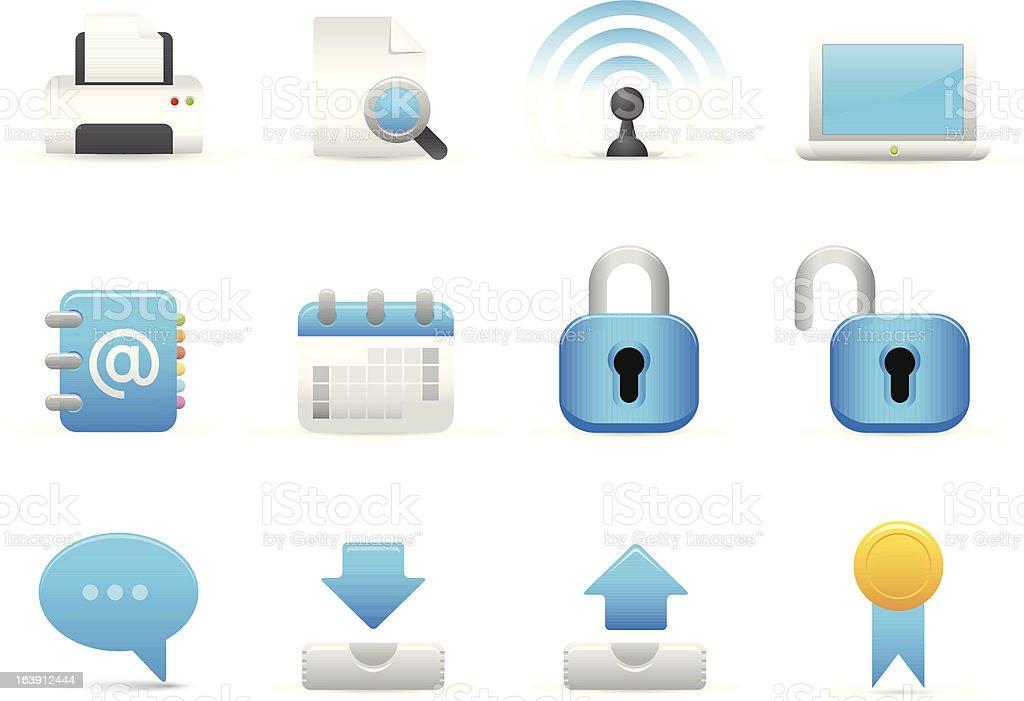 Błękit komputer ikony stockowa ilustracja wektorowa royalty-free