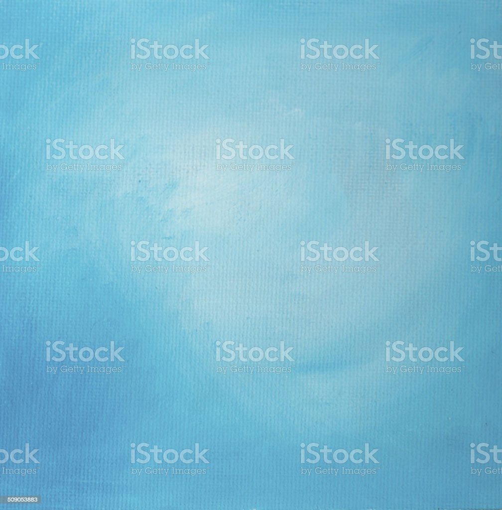 Sky blue painted oil background vector art illustration
