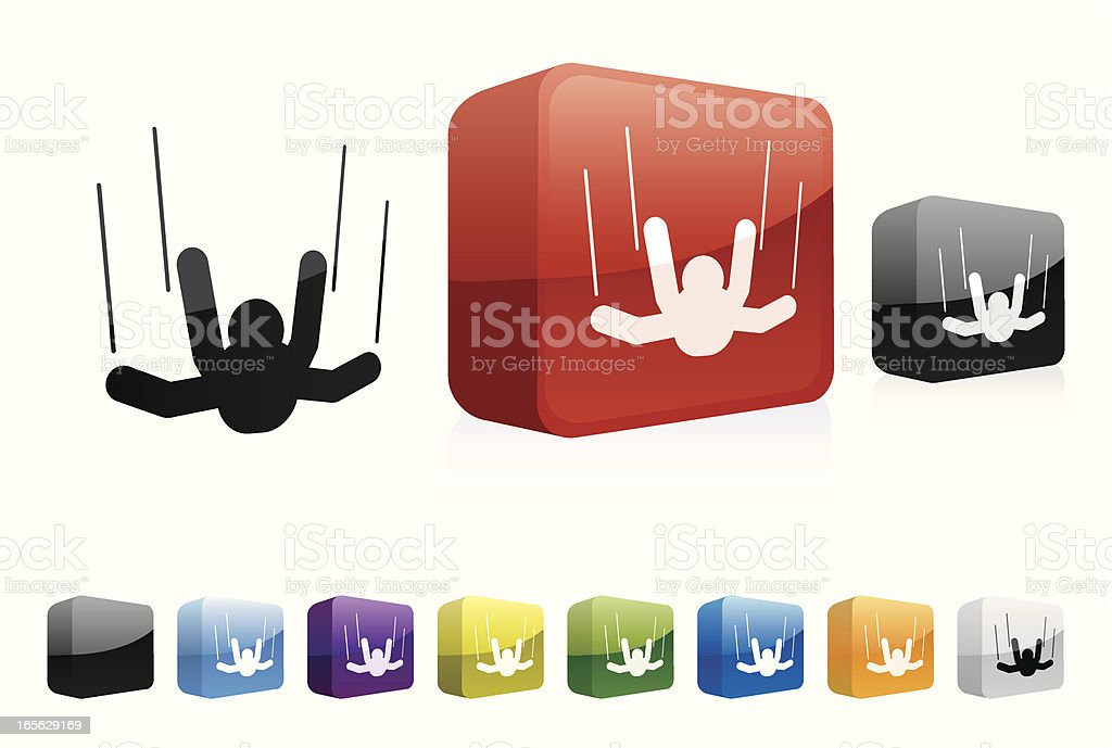 Sky Diving | 3D Collection royalty-free stock vector art