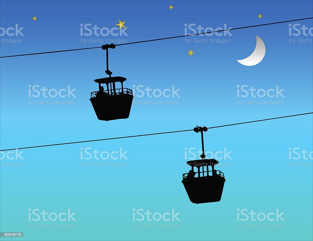 Sky Ride (Vector) royalty-free stock vector art