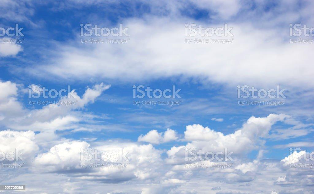Sky white clouds vector art illustration