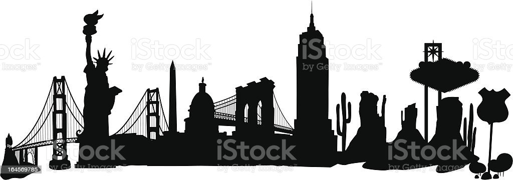 USA Skyline royalty-free stock vector art