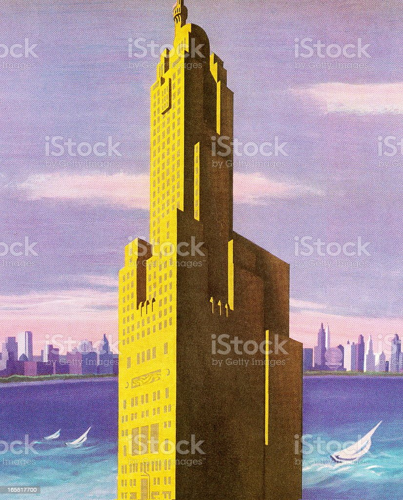 Skyscraper and City Skyline royalty-free stock vector art