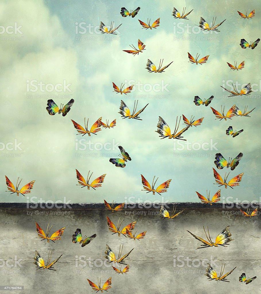 Skyward vector art illustration