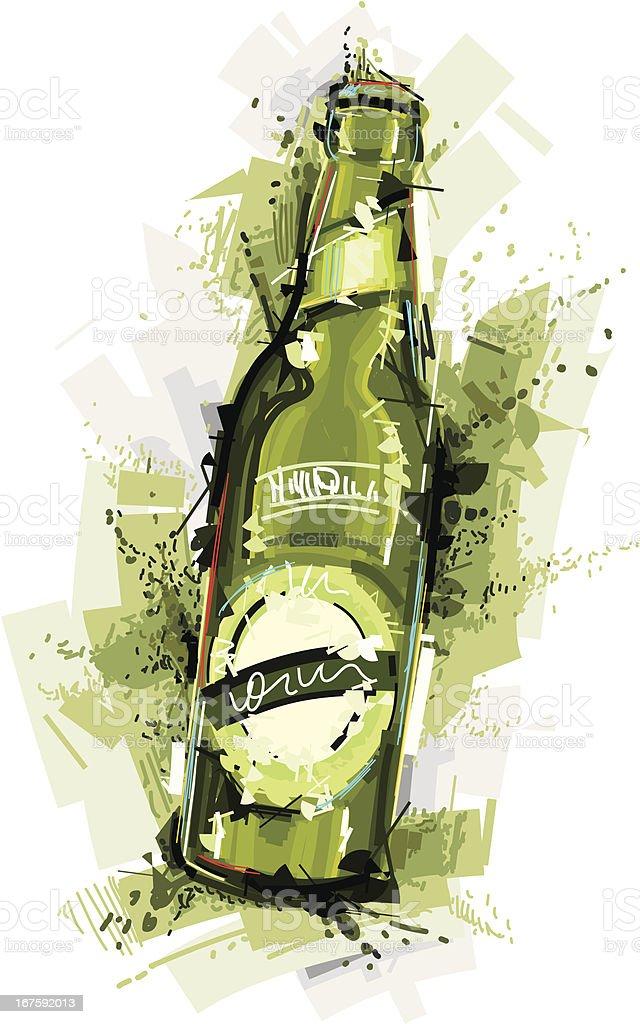 slam beer vector art illustration