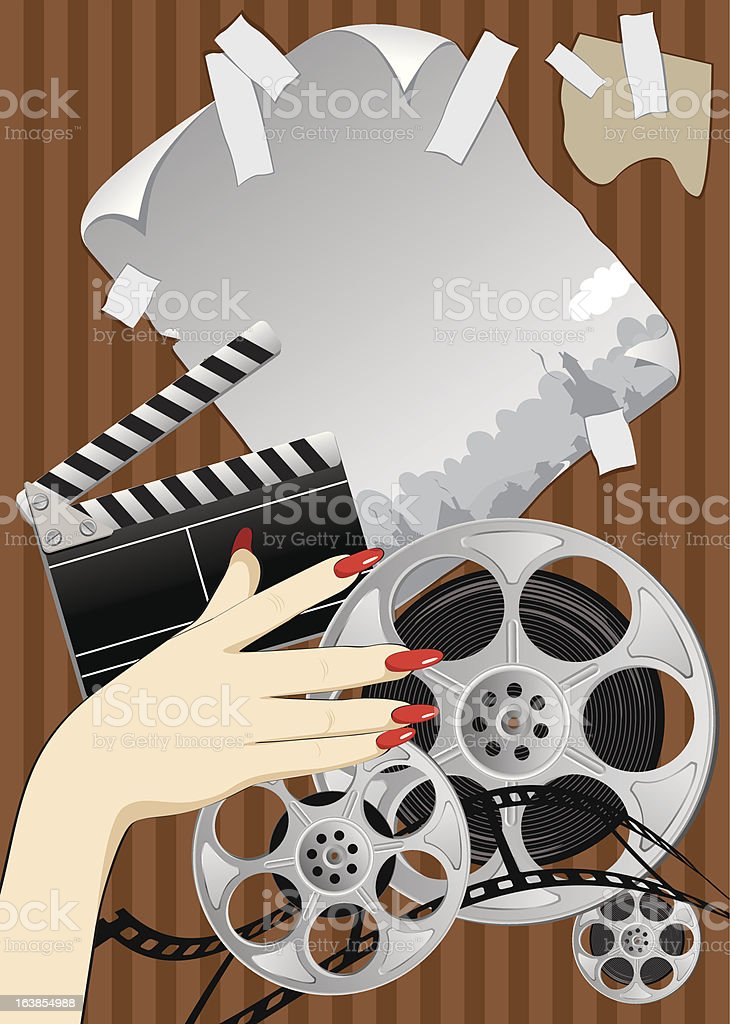 slapstick film poster royalty-free stock vector art