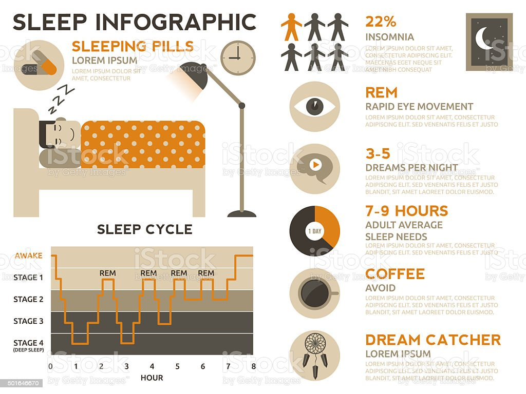 Sleep Infographic vector art illustration
