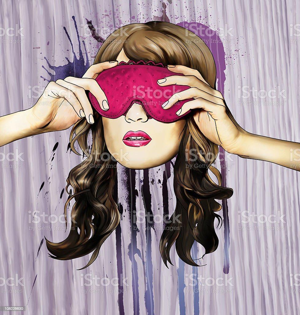 sleep mask royalty-free stock vector art