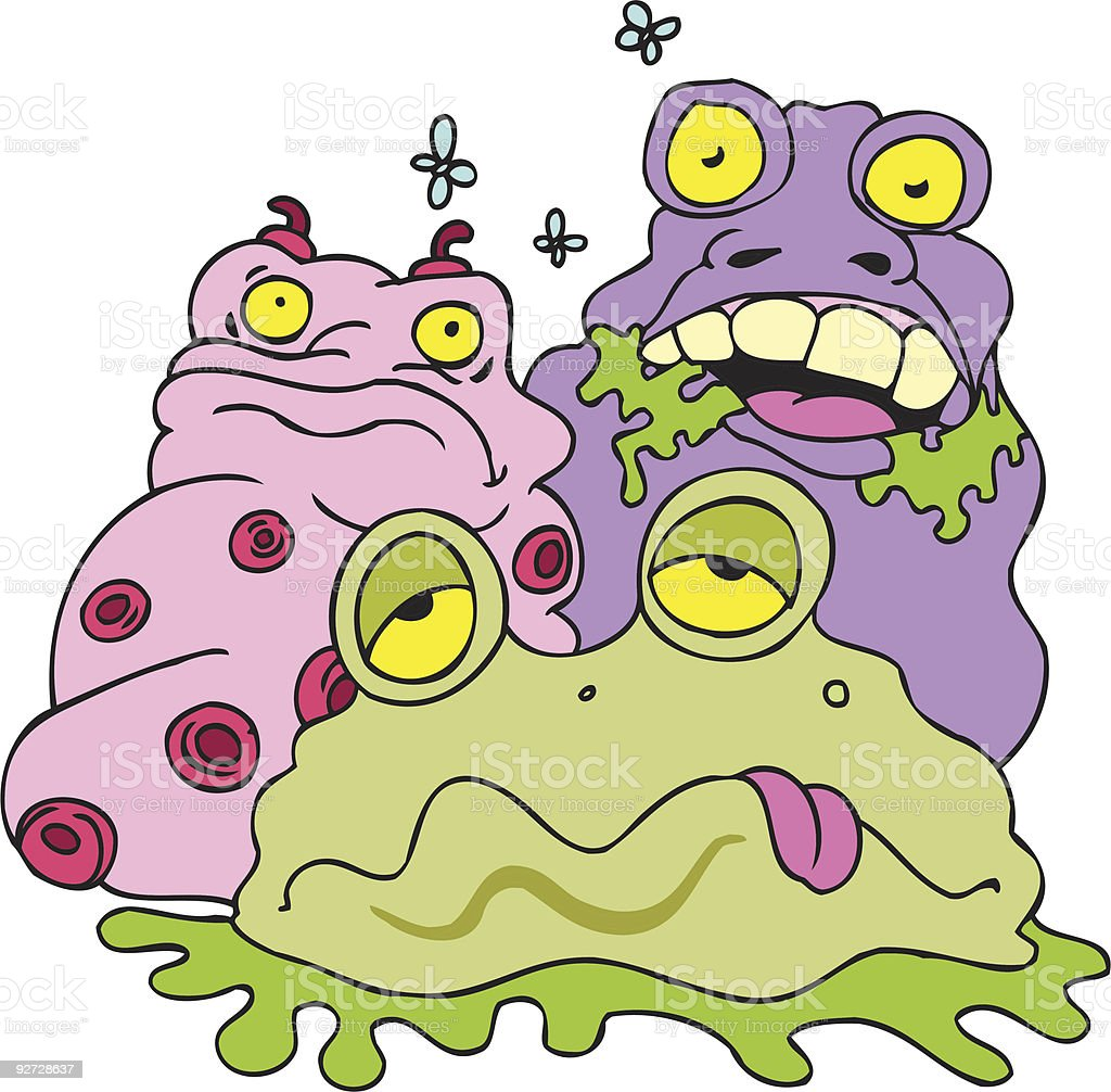 Slimey Creatures royalty-free stock vector art
